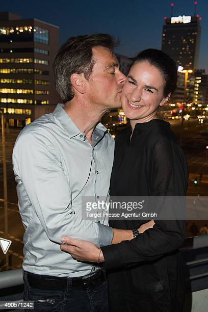 Jan Sosniok and his wife Nadine attend the charity event 'Ein Abend der Magie' by Tom Tailor at Soho House on September 29 2015 in Berlin Germany