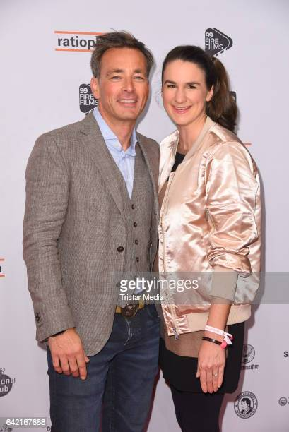 Jan Sosniok and his wife Nadine Moellers attend the 99FireFilmsAward at Admiralspalast on February 16 2017 in Berlin Germany