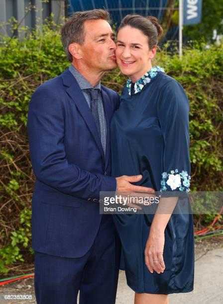 Jan Sosniok and his wife Nadine Sosniok arrive at the GreenTec Awards at ewerk on May 12 2017 in Berlin Germany