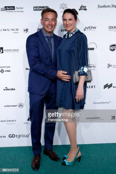 Jan Sosniok and his wife Nadine Sosniok during the GreenTec Awards at ewerk on May 12 2017 in Berlin Germany