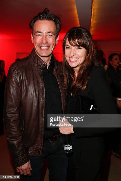 Jan Sosniok and Ina Paule Klink attend the 99FireFilmAward 2016 at Admiralspalast on February 18 2016 in Berlin Germany