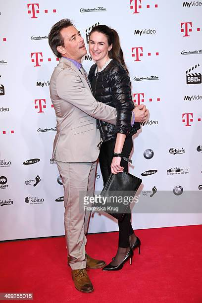 Jan Sosniok and Nadine Moellers attend the 99FireFilmsAward 2014 at Admiralspalast on February 13 2014 in Berlin Germany