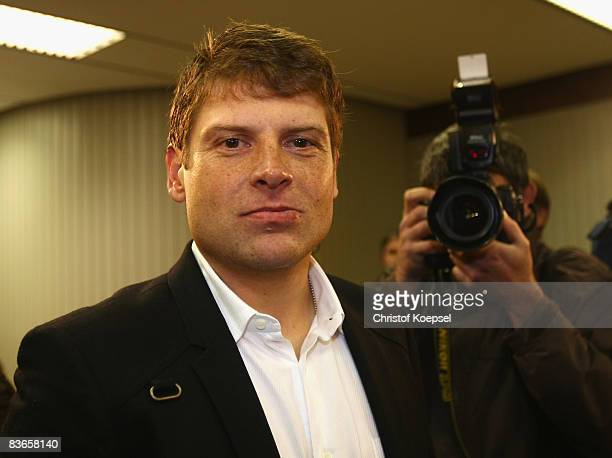 Jan Ullrich is seen during the hearing at the higher regional court Duesseldorf on November 12 2008 in Duesseldorf Germany Cyclist Jan Ullrich...