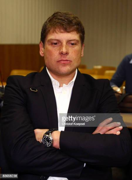 Jan Ullrich looks on during the hearing at the higher regional court Duesseldorf on November 12 2008 in Duesseldorf Germany Cyclist Jan Ullrich...