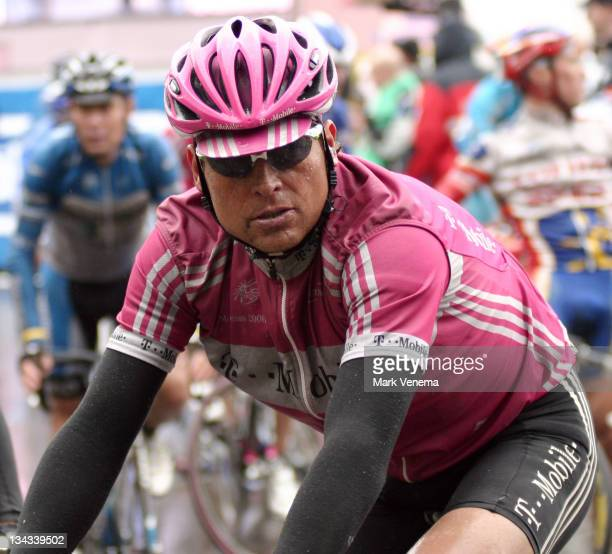 Jan Ullrich of Cycling Team TMobile concentrates before the start of the 3rd stage of the 2006 Giro d'Italia