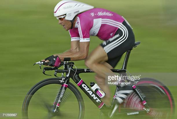 Jan Ullrich of Germany and TMobile competes during the 70th Tour de Suisse June 18 2006 between Kerzers and Bern Switzerland