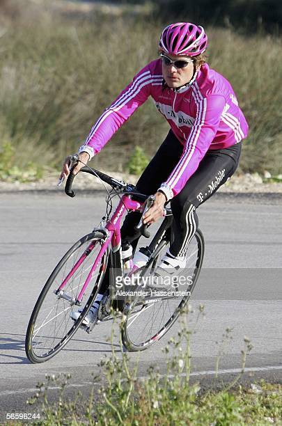 Jan Ullrich of Germany in action during the TMobile team training camp on January 15 2006 in Mallorca Spain