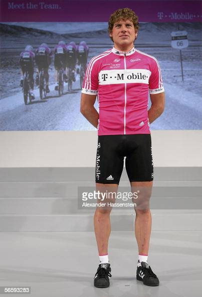 Jan Ullrich of Germany poses during the presentation of the TMobile Team for the season 2006 on January 14 2006 in Mallorca Spain
