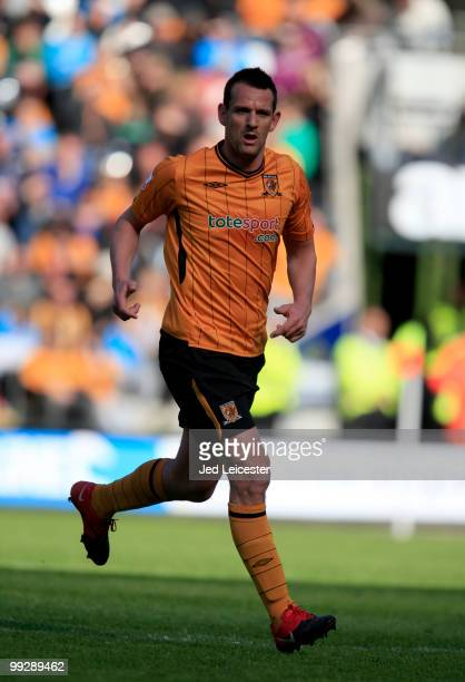 Jan Vennegoor of Hesselink of Hull City during the Barclays Premier League match between Hull City and Liverpool at the KC Stadium on May 9 2010 in...