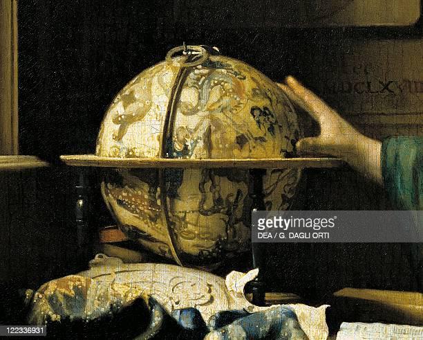 Jan Vermeer The Astronomer oil on canvas 51 x 45 cm Detail Globe