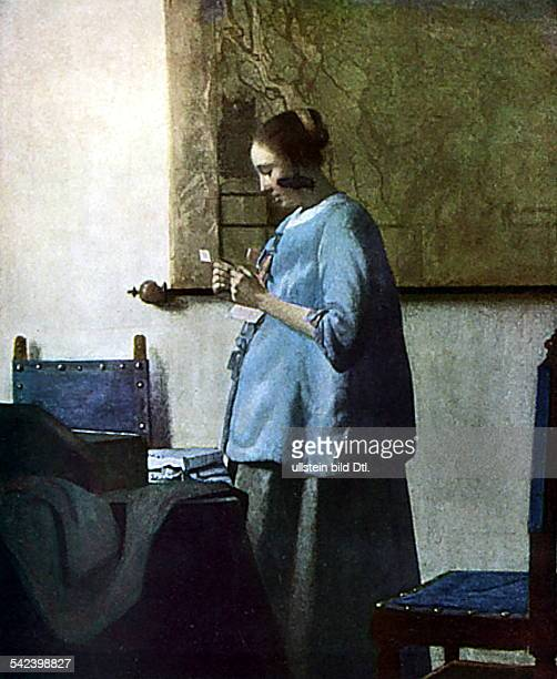 Jan Vermeer van Delfteigentlich Jan van der Meervermutlich 1632 1675Maler Holland'Junges brieflesendes Mädchen'