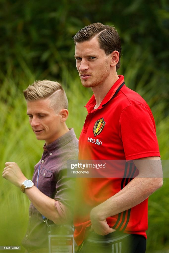 Jan Vertonghen defender of Belgium before a closed training session of the National Soccer Team of Belgium as part of the preparation prior to the UEFA EURO 2016 quarter final match between Wales and Belgium at the Chateau de Haillan training center on June 29, 2016 in Bordeaux, France ,