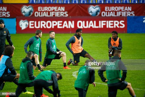Jan Vertonghen defender of Belgium Thomas Vermaelen defender of Belgium Michy Batshuayi forward of Belgium and Dedryck Boyata defender of Belgium...