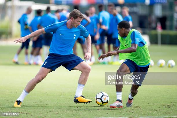 Jan Vertonghen during the Tottenham Hotspur open training session at the ESPN Wide World of Sports on July 21 2017 in Orlando Florida