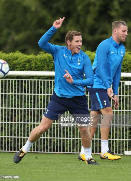 Jan Vertonghen of Tottenham during the Tottenham Hotspur training session at Tottenham Hotspur Training Centre on July 12 2017 in Enfield England