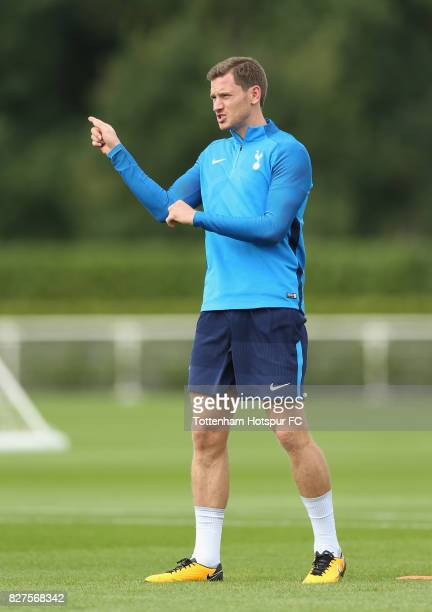 Jan Vertonghen of Tottenham during the Tottenham Hotspur training session at Tottenham Hotspur Training Centre on August 8 2017 in Enfield England