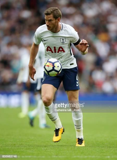 Jan Vertonghen of Tottenham Hotspur during the Premier League match between Tottenham Hotspur and Chelsea at Wembley Stadium on August 20 2017 in...