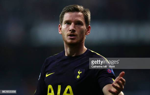 Jan Vertonghen of Tottenham Hotspur during the UEFA Champions League group H match between Real Madrid and Tottenham Hotspur at Estadio Santiago...
