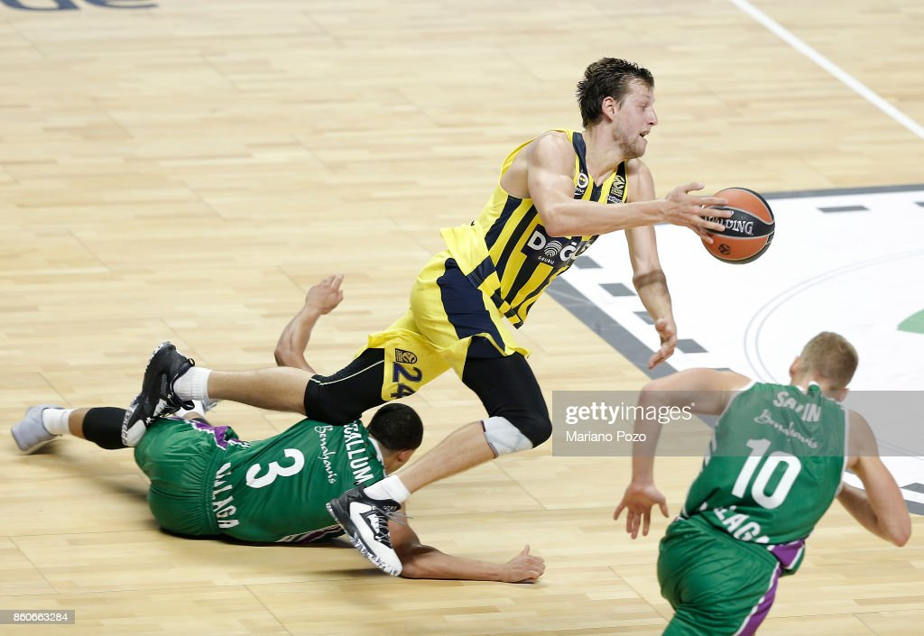 Jan Vesely, #24 of Fenerbahce Dogus Istanbul in action during the 2017/2018 Turkish Airlines EuroLeague Regular Season Round 1 game between Unicaja Malaga v Fenerbahce Dogus Istanbul at Martin Carpena Arena on October 12, 2017 in Malaga, Spain.