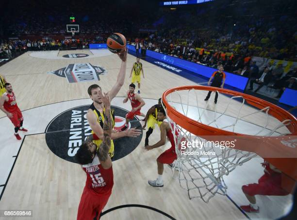 Jan Vesely #24 of Fenerbahce Istanbul in action during the Championship Game 2017 Turkish Airlines EuroLeague Final Four between Fenerbahce Istanbul...