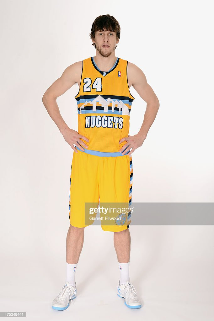 <a gi-track='captionPersonalityLinkClicked' href=/galleries/search?phrase=Jan+Vesely&family=editorial&specificpeople=5620499 ng-click='$event.stopPropagation()'>Jan Vesely</a> #24 of the Denver Nuggets poses for a photo on February 26, 2014 at the Pepsi Center in Denver, Colorado.