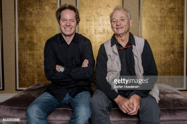 Jan Vogler and Bill Murray pose for a photo during Universal Inside 2017 organized by Universal Music Group at MercedesBenz Arena on September 6 2017...