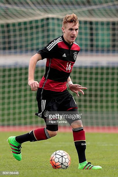 Jan Wellers of Germany during the UEFA Under16 match between U16 France v U16 Germany on February 6 2016 in Vila Real de Santo Antonio Portugal