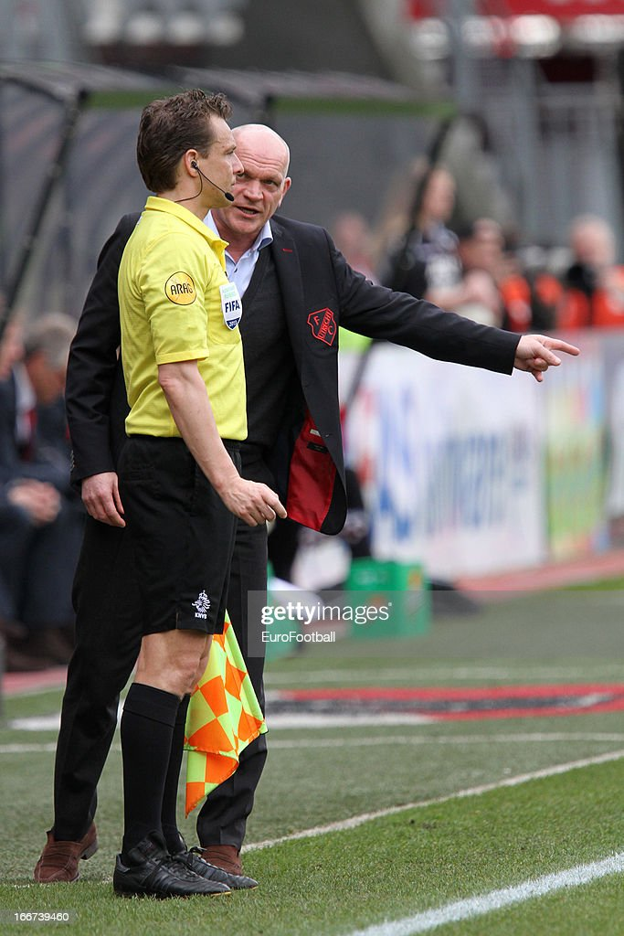 <a gi-track='captionPersonalityLinkClicked' href=/galleries/search?phrase=Jan+Wouters&family=editorial&specificpeople=3018119 ng-click='$event.stopPropagation()'>Jan Wouters</a>, coach of FC Utrecht during the Dutch Eredivisie match between AZ Alkmaar and FC Utrecht held on April 14, 2013 at the AFAS Stadion in Alkmaar, Netherlands. AZ Alkmaar won the match with 6-0.