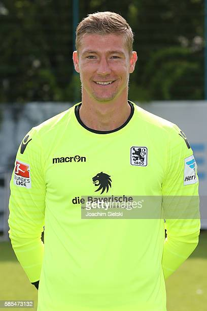Jan Zimmermann poses during the official team presentation of TSV 1860 Muenchen at Trainingsgelaende on July 22 2016 in Munich Germany
