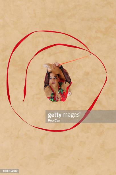Jana BerezkoMarggrander of Germany competes during the Rythmic Gymnastics Individual AllAround competition on Day 14 of the London 2012 Olympics...