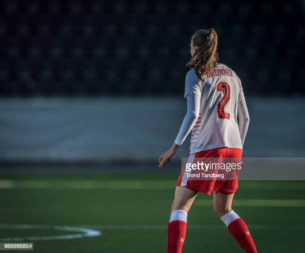 Jana Brunner of Swiss during International Friendly match between Norway v Switzerland at Skagerak Arena on April 10 2017 in Skien Norway