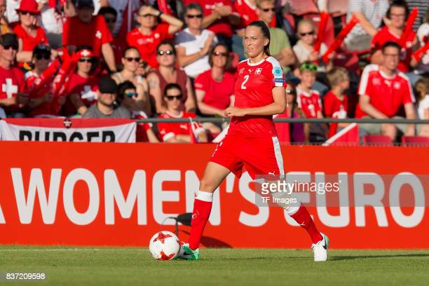 Jana Brunner of Switzerland controls the ball during the Group C match between Austria and Switzerland during the UEFA Women's Euro 2017 at Stadion...