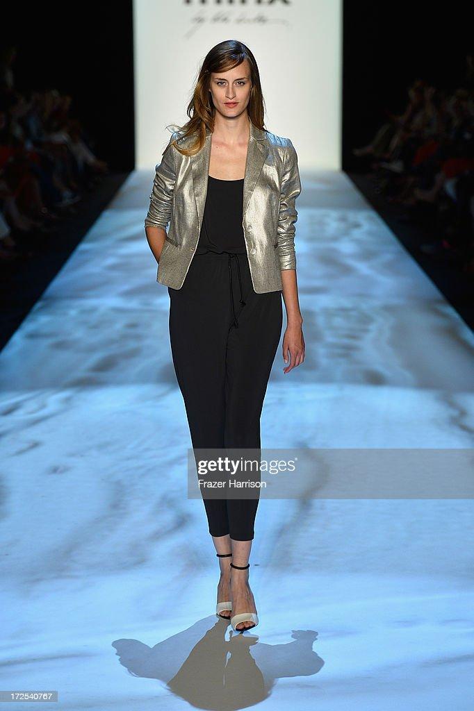 Jana Drews walks the runway at Minx By Eva Lutz show during Mercedes-Benz Fashion Week Spring/Summer 2014 at Brandenburg Gate on July 3, 2013 in Berlin, Germany.