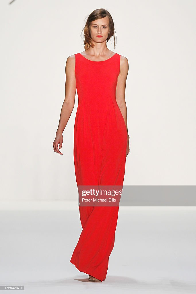 Jana Drews walks the runway at the Minx By Eva Lutz show during Mercedes-Benz Fashion Week Spring/Summer 2014 at Brandenburg Gate on July 3, 2013 in Berlin, Germany.