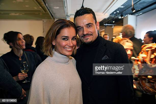 Jana Ina Zarella and Giovanni Zarella during the MercedesBenz Fashion Week Berlin A/W 2017 at Kaufhaus Jandorf on January 17 2017 in Berlin Germany