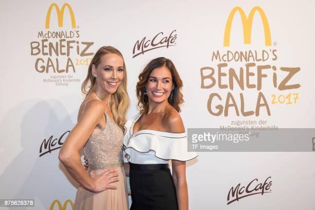 Jana Ina Zarella and Sylvia Walker attends the McDonald's charity gala at Hotel Bayerischer Hof on November 10 2017 in Munich Germany