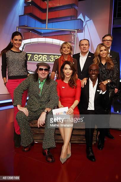 Jana Ina Zarella Guildo Horn Annett Moeller Uschi Glas Wolfram Kons Bruce Darnell Sylvie Meis and Frank Hoffmann attend the RTL Telethon 2013 on...