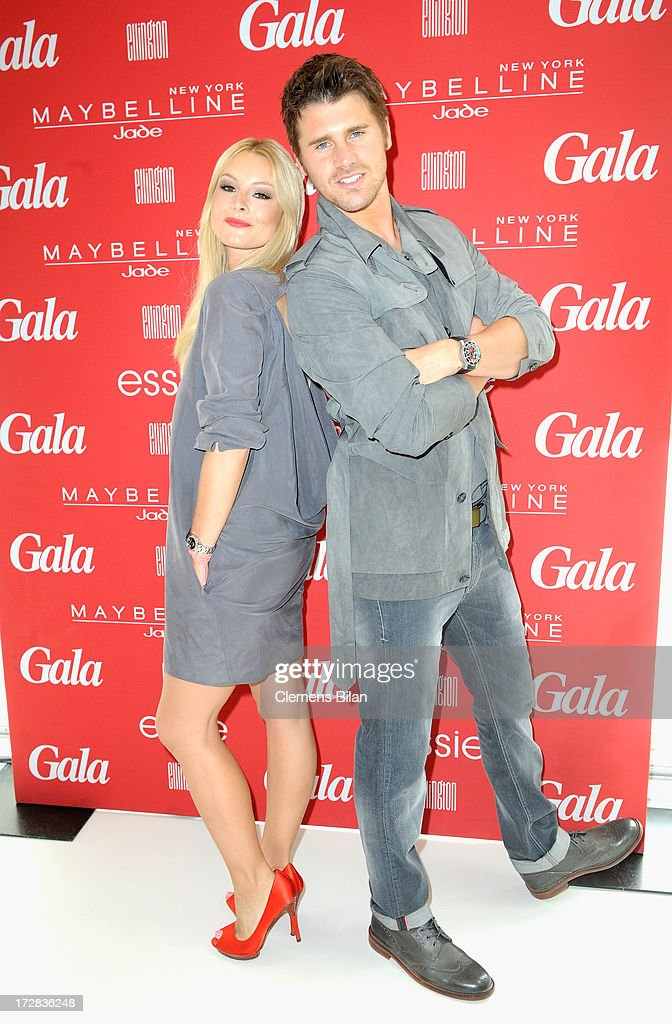 Jana Julie Kilka and Thore Schoelermann attend the Gala Fashion Brunch at Ellington Hotel on July 5, 2013 in Berlin, Germany.