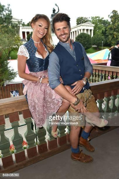 Jana Julie Kilka and Thore Schoelermann during the ProSieben Sat1 Wiesn as part of the Oktoberfest 2017 at Kaefer Tent on September 17 2017 in Munich...