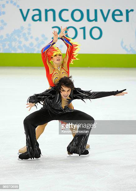 Jana Khokhlova and Sergei Novitski of Russia compete in the free dance portion of the Ice Dance competition on day 11 of the 2010 Vancouver Winter...