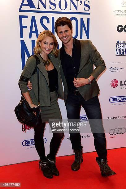 Jana Kilka and Thore Schoelermann attend the Anson's Fashion Night on October 1 2014 in Hamburg Germany