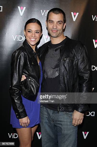 Jana Kramer and Johnathon Schaech attend the Vida launch party at Voyeur on January 13 2010 in West Hollywood California