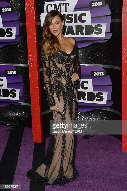 Jana Kramer attends the 2013 CMT Music awards at the Bridgestone Arena on June 5 2013 in Nashville Tennessee