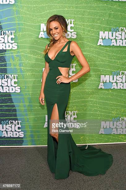 Jana Kramer attends the 2015 CMT Music awards at the Bridgestone Arena on June 10 2015 in Nashville Tennessee