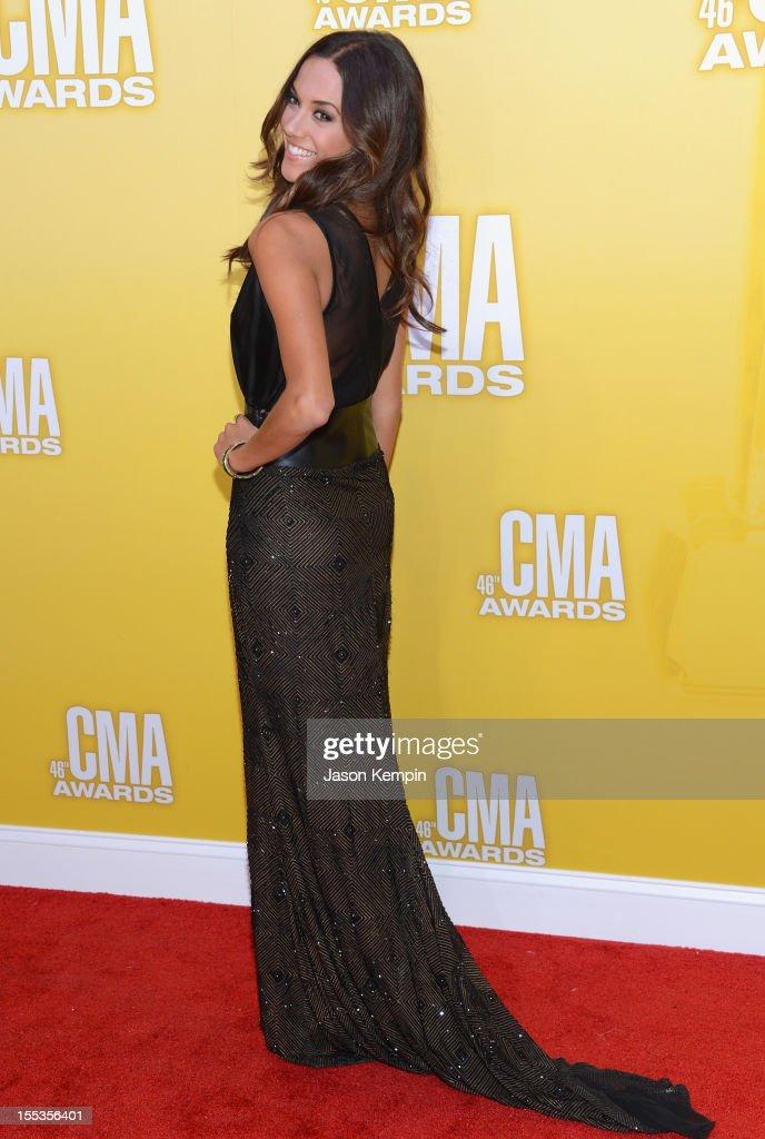 Jana Kramer attends the 46th annual CMA Awards at the Bridgestone Arena on November 1, 2012 in Nashville, Tennessee.