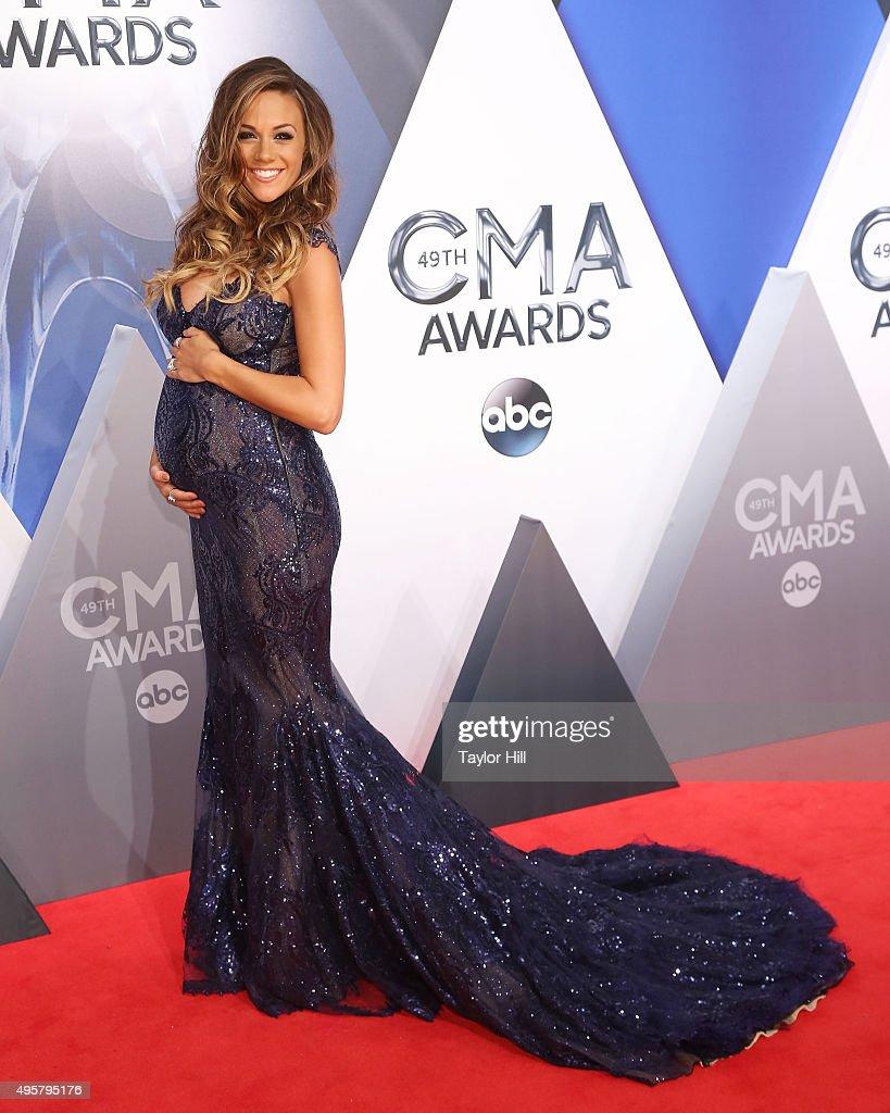Jana Kramer attends the 49th annual CMA Awards at the Bridgestone Arena on November 4, 2015 in Nashville, Tennessee.