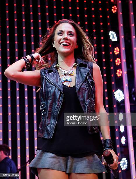 Jana Kramer performs at Universal CityWalk's music spotlight concert series at Universal CityWalk on July 24 2014 in Universal City California