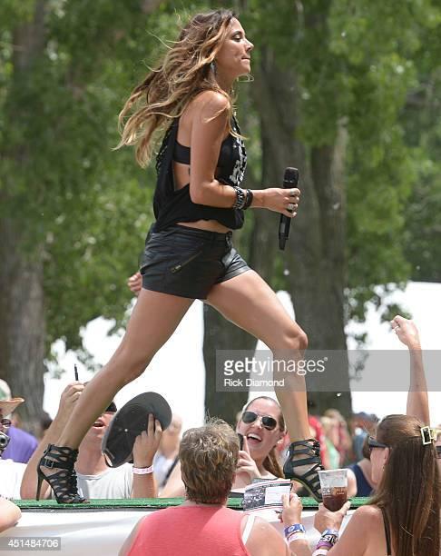 Jana Kramer performs during 'Kicker Country Stampede' at Tuttle Creek State Park on June 29 2014 in Manhattan Kansas