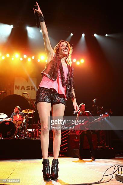 Jana Kramer performs on stage during the 2015 NASH Bash presented by NASH FM 947 as part of Country in Brooklyn at Barclays Center on March 24 2015...