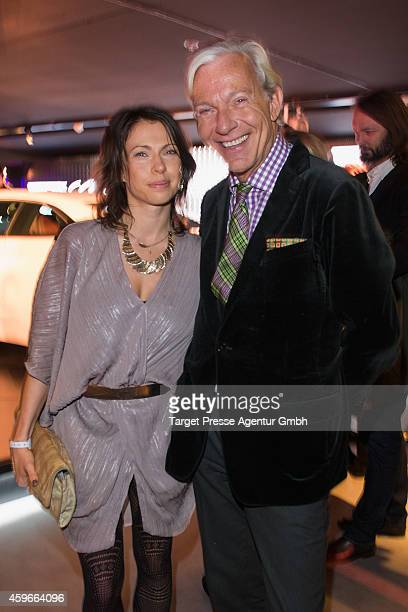 Jana Pallaske and Jo Groebel attend the Cadillac Experience Grand Opening on November 27 2014 in Berlin Germany